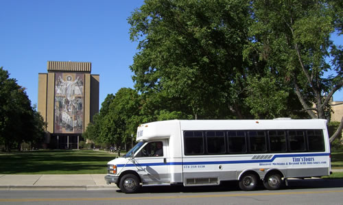 Notre Dame Library - Tims Tours Bus