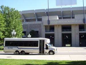 Both Buses:  Notre Dame Shuttle:  Texas