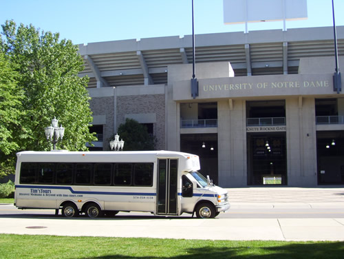 Notre Dame Stadium - Tim's Tours Bus